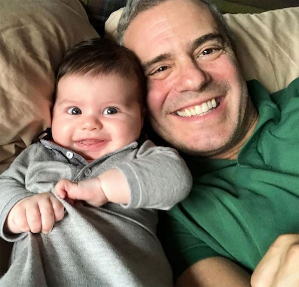 Andy Cohen and his baby
