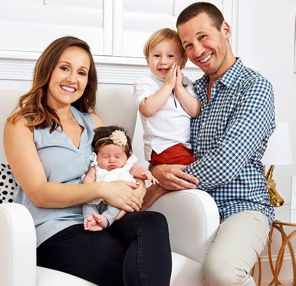Ashley Hebert and J.P Rosenbaum with kids