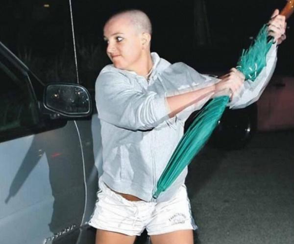 Britney Spears public mental breakdown in 2007