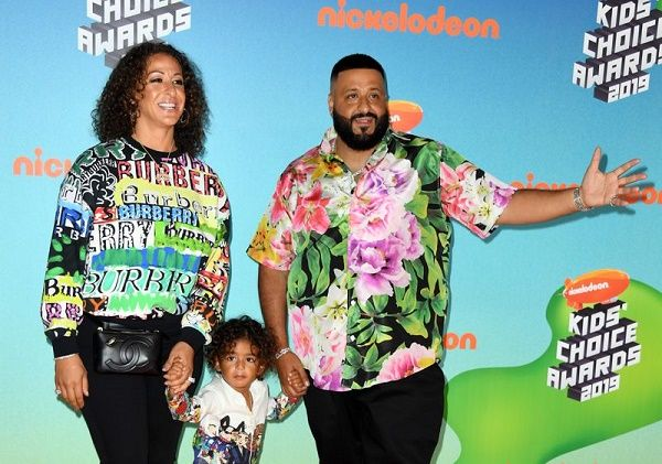 Dj Khaled with his family, wife Nicole Tuck and son Ashad
