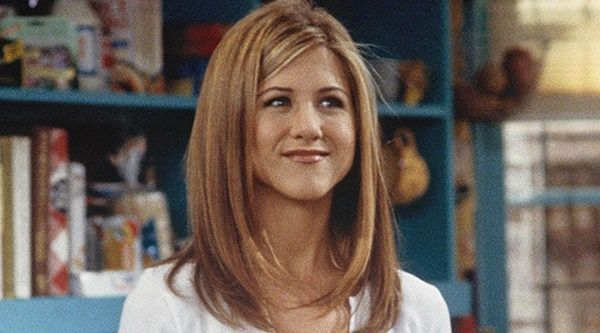 Jennifer Aniston in the famous series FRIENDS as Rachel Green