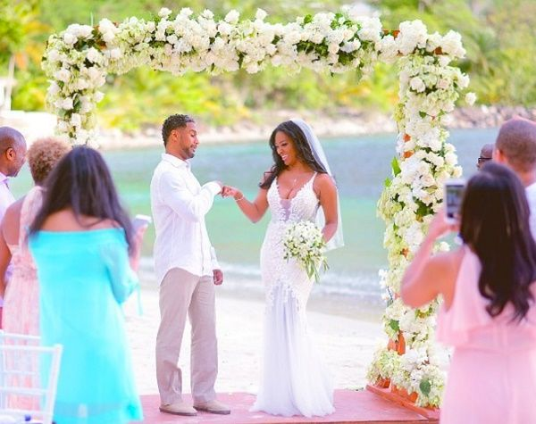 Kenya Moore marrige picture with Marc Daly
