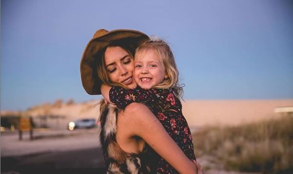 Kylie Rae Harris and his daughter