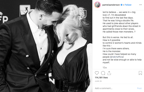 Pamela Anderson publicly dumps boyfriend Rami