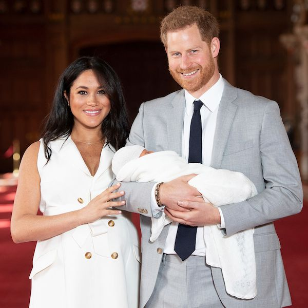 The Duke and Duchess with their baby Archie