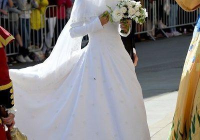 British singer Ellie Goulding married her fiance art dealer Caspar Jopling in Yorkshire, England on Saturday 31 August 2019