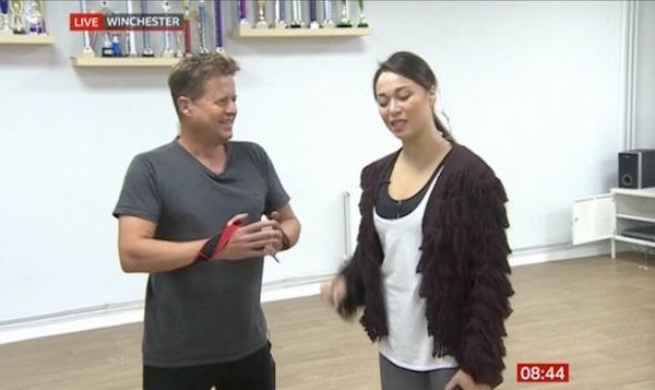 katya jones and Bushell strap training