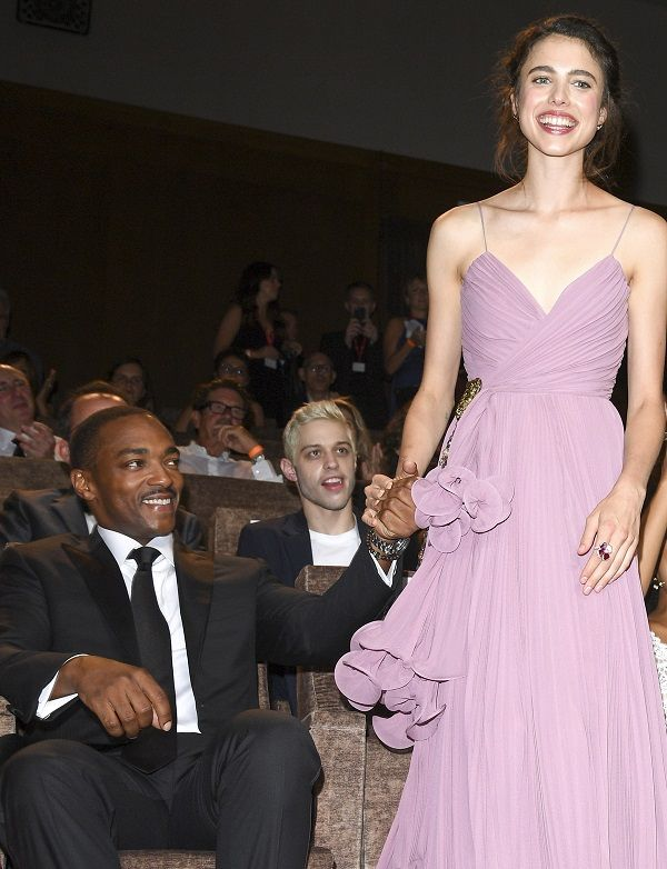 Anthony Mackie, Peter Davidson and Margaret Qualley