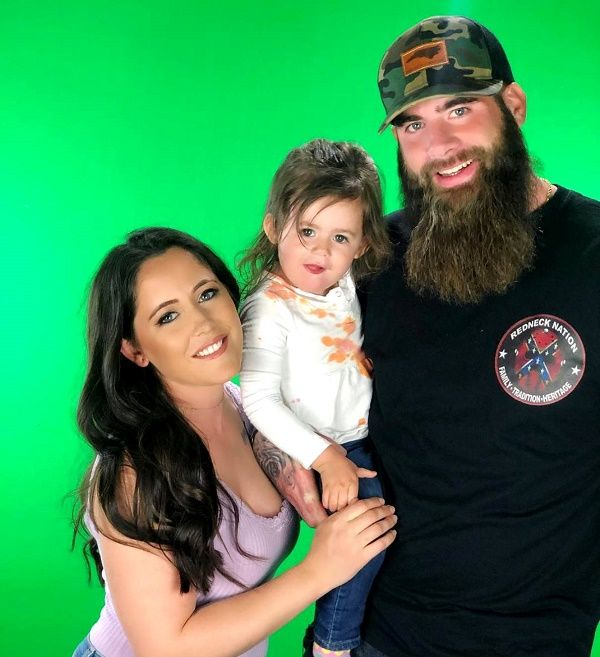 Janelle Evand and David Eason with daughter Ensley
