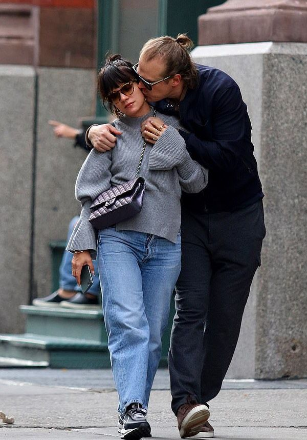 Lily Allen and David Harbour PDA