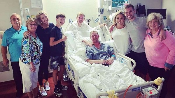 Todd posts a family picture with hospitalized Kyle