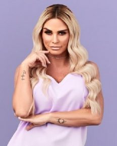 Katie Price takes her fans to a tour of her messy home in West Sussex with piled-up discarded old clothes and wall graffiti!