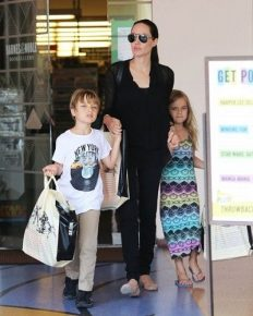 Angelina Jolie spends quality time on a boat trip with her twins, Vivienne and Knox on the Spanish island of Fuerteventura