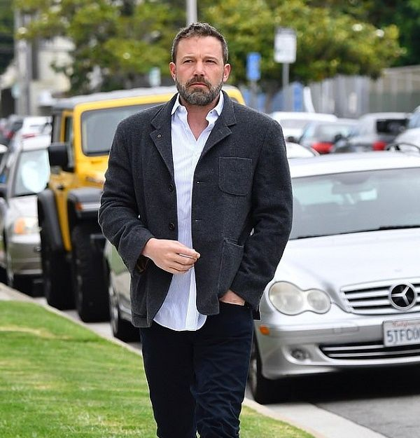 Ben Affleck on his way to church