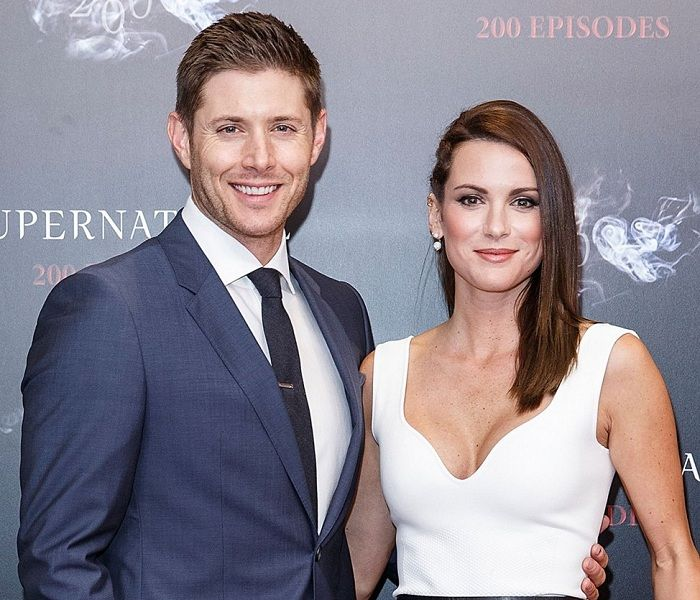 Jensen Ackles with his wife Danneel Harris Ackles ...