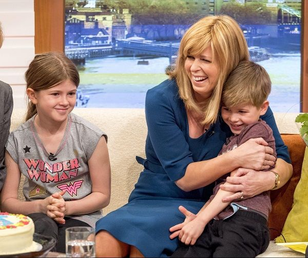 Kate Garraway and her children