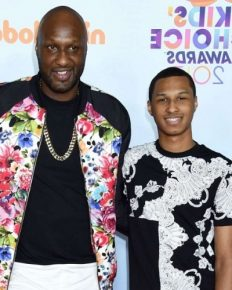 What is the reaction of Lamar Odom's son Lamar Morales-Odom Jr. on hearing about his father's engagement to girlfriend of three months, Sabrina Parr?