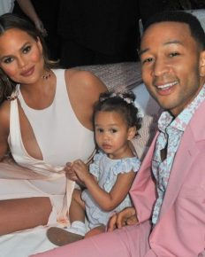 John Legend shared pictures of Valentine's Day-Ready Ensemble of daughter!