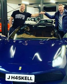 James Haskell whose firm is in big debts splashed £50,000 on a new Ferrari worth £195000!