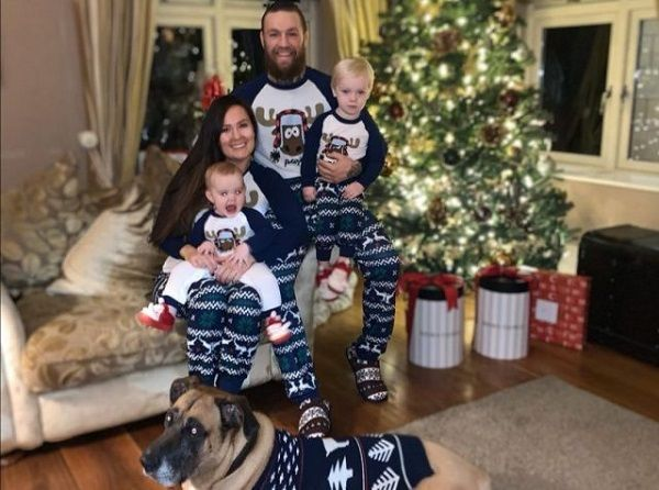 Conor McGregor, his partner and children