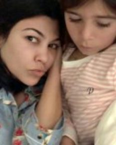 Penelope Disick, 7 in Morning Cuddles with mother Kourtney Kardashian on Instagram!