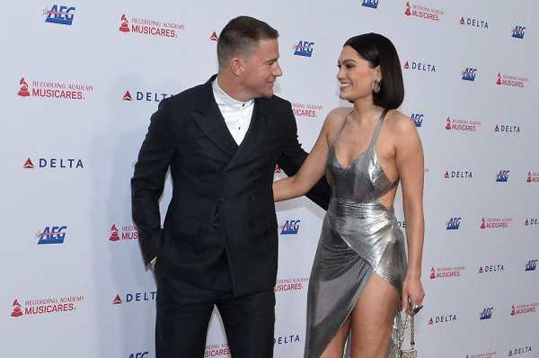 Channing Tatum and Jessie J walking red carpet together