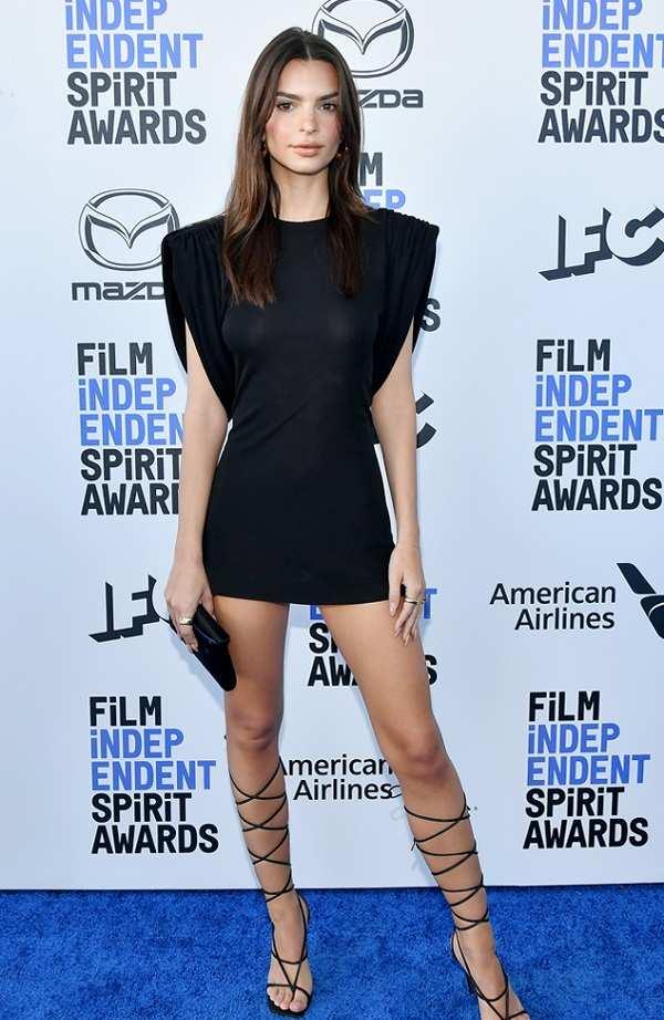 Emily Ratajkowski in the 2020 Film Independent Spirit Awards
