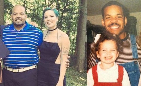 Halsey and her father Chris