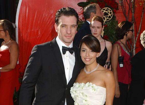 JC Chasez with ex-girlfriend Eva Longoria