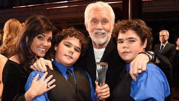 Kenny Rogers, his wife and twin son