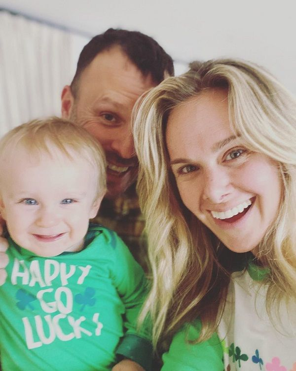 Laura Bell Bundy, her husband and son