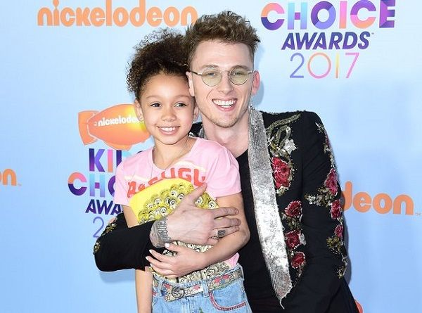 Machine Gun Kelly with his daughter Casie