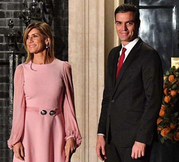 Maria Begona Gomez and Prime Minister Pedro Sanchez