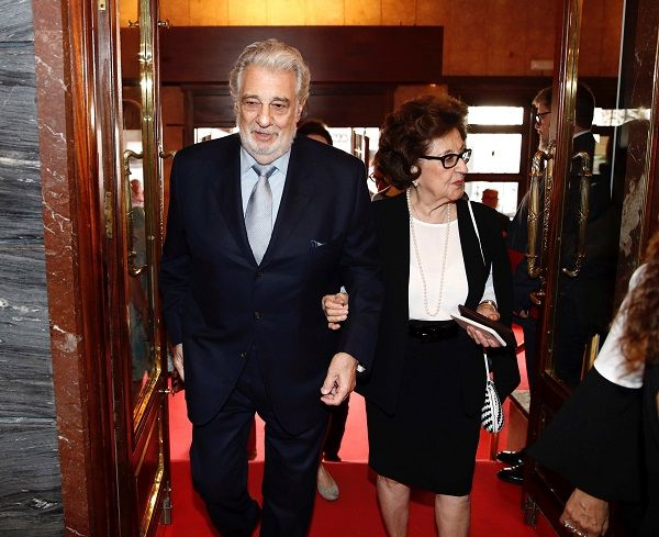 Placido Domingo and his wife Marta Ornelas