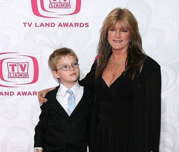 Susan Olsen and her son Michael