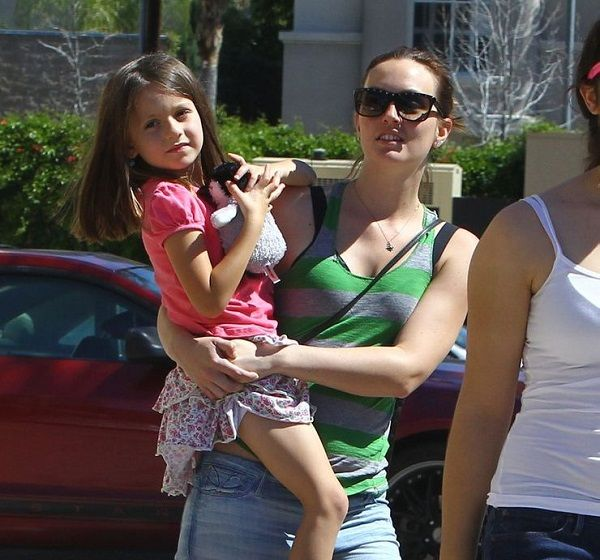 Actress Leighton Meester with daughter Arlo Day Brody