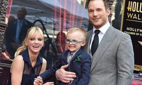 Anna Faris with ex-husband Chris Pratt and son