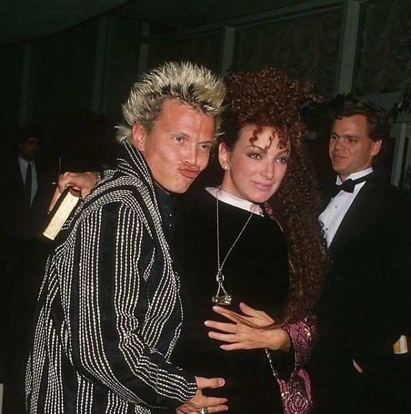 Billy Idol with ex-girlfriend Perri Lister
