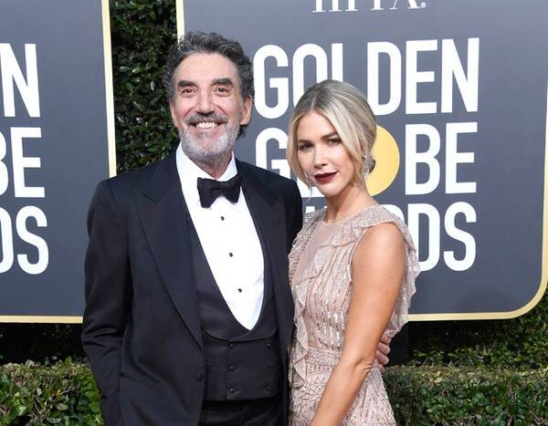 Chuck Lorre and Arielle Lorre in the 2019 Golden Globes Awards