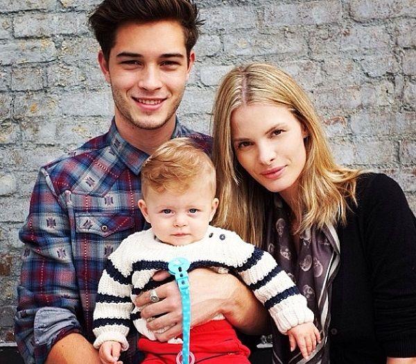 Francisco Lachowski, Jessiann and their son