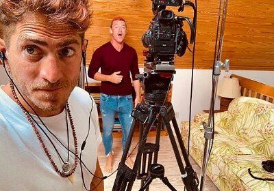 Luke Evans reveals that his boyfriend Rafa Olarra helped him in filming for Gaston from home!