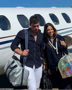 Millionaire Michael Goonan flies from Melbourne to Sydney with girlfriend KC Osborne via a private chartered aircraft!