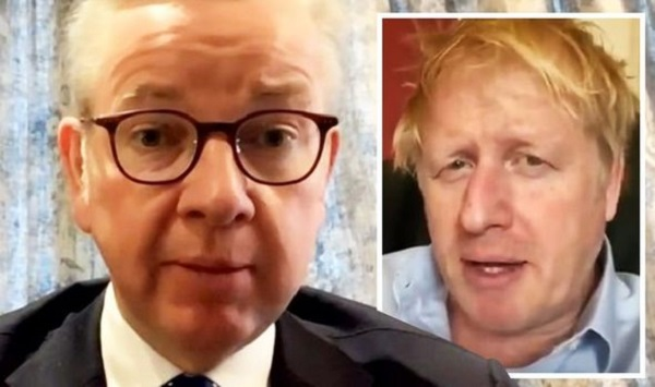 Michael Gove udated on Prime Minister Boris Johnson's health