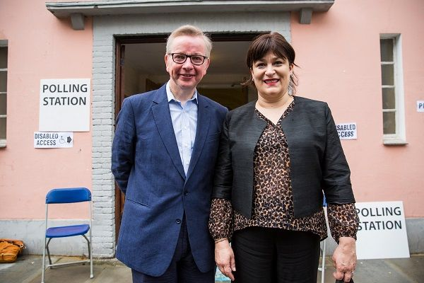 Michael Gove with wife Sarah Vine