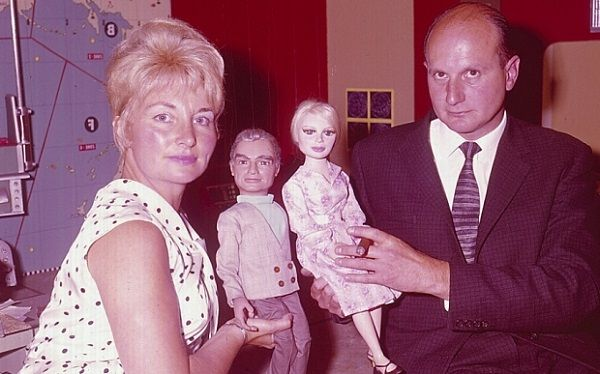 Sylvia Anderson and ex-husband Gerry Anderson