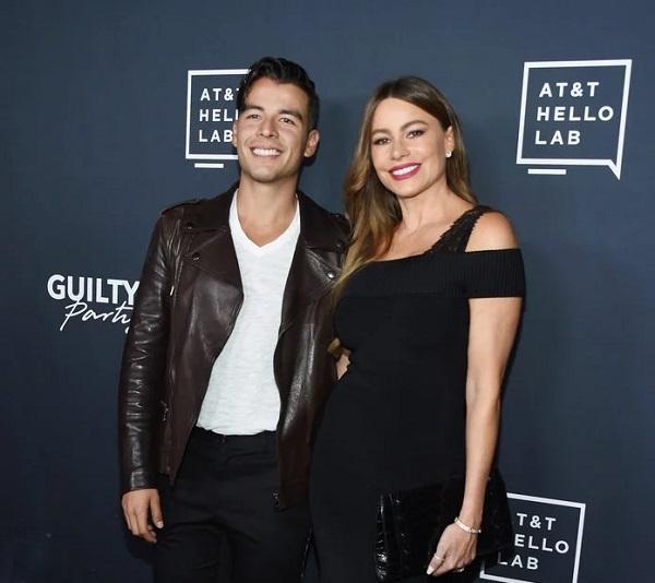 Sofia Vergara and her son