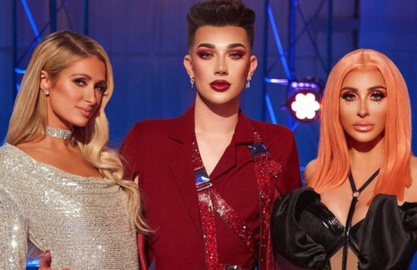 James Charles with the judges of first episode of Instant Influencer