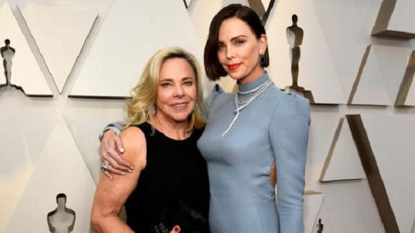 Charlize Theron and her mother Gerda