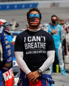 NASCAR company bans the confederate flags from its events in wake of George Floyd's death protests! Bubba Wallace claps his hands!