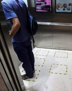 Commuting to your workplace in public transport and elevators during coronavirus pandemic! How to make it safe?